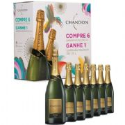 Kit Chandon 6 Chandon 750ml Brut Grátis Chandon Brut 1,5lt