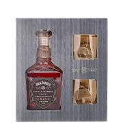 Kit Whisky Jack Single Barrel 750ml com 2 Copos